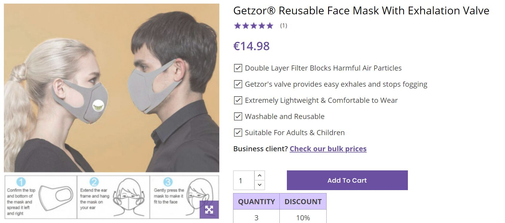 Getzor Face Mask UK