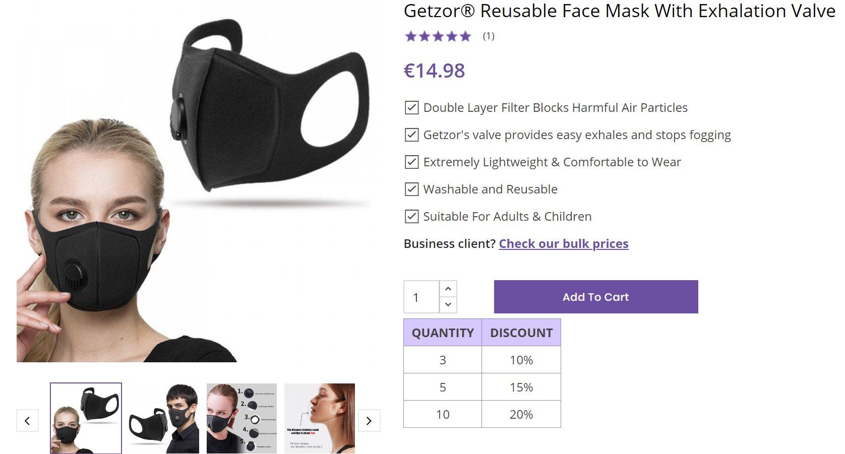 Getzor Face Mask