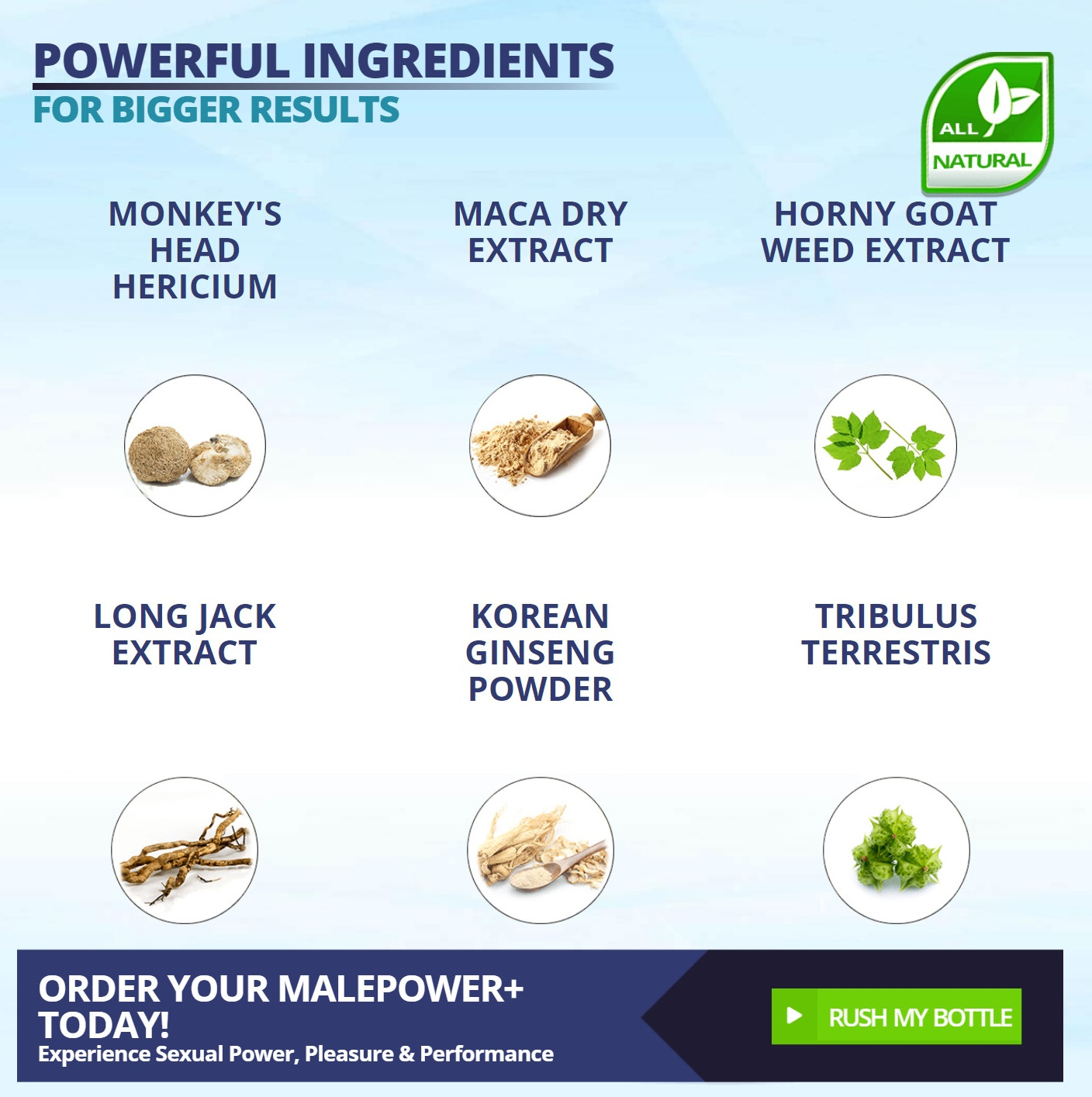 Male Power+ Male Enhancement Ingredients