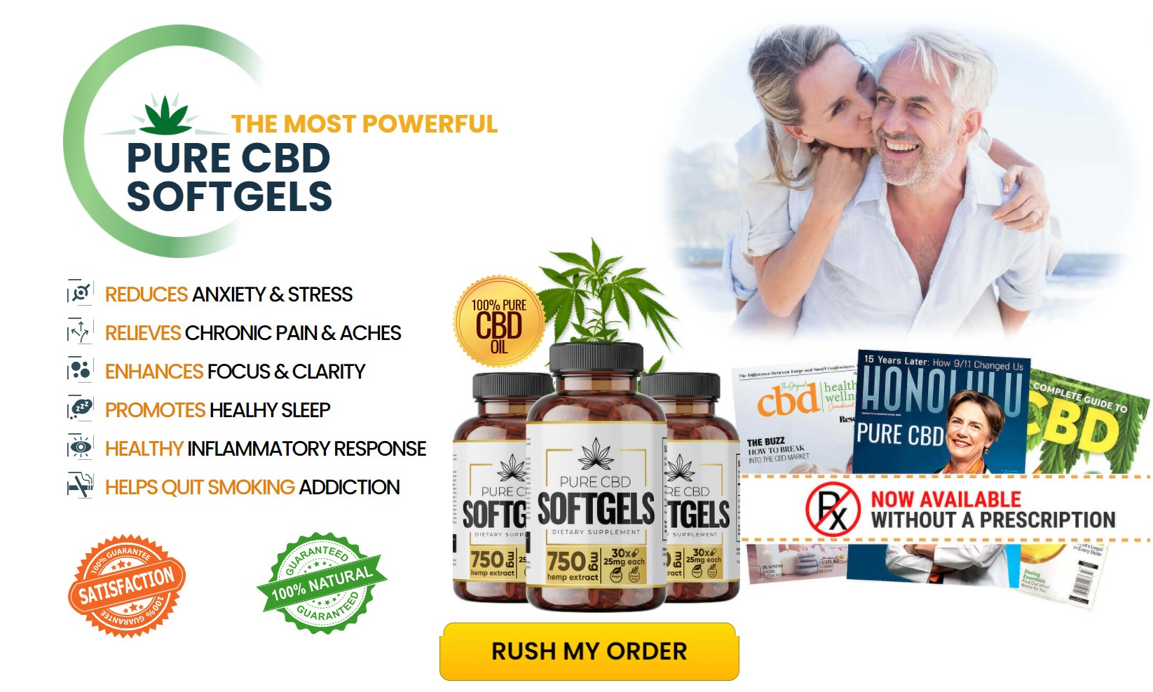 Pure CBD SoftGels Buy Now
